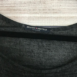 Brandy Melville Sweaters - Brandy Melville Gray Long Sleeve Light Sweater